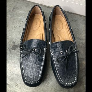 Lands End Navy Blue Slip On Loafer